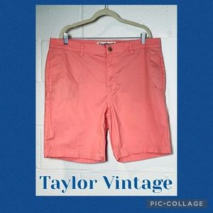TailorVintage 38W Pink  Stretch Waist Shorts